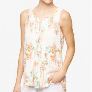 SANCTUARY NWT SLEEVELESS FLORAL PALMA TOP M